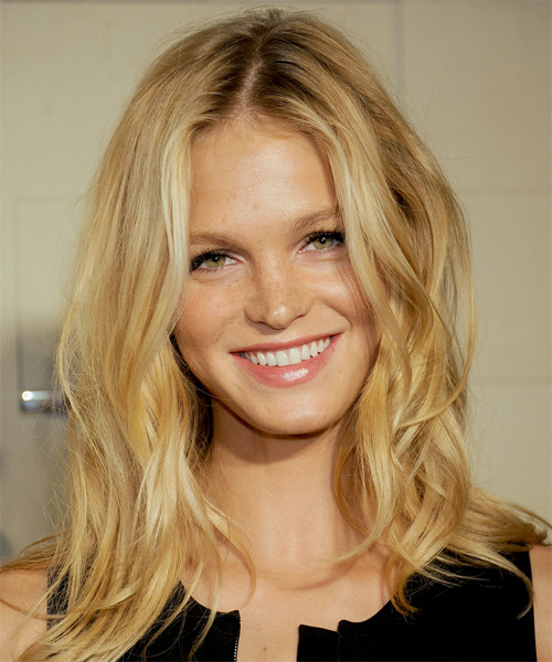 Erin Heatherton Long Wavy Hairstyle - Medium Blonde (Golden)