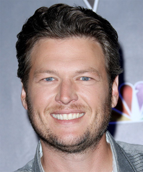 Blake Shelton Short Straight Hairstyle - Medium Brunette (Ash)