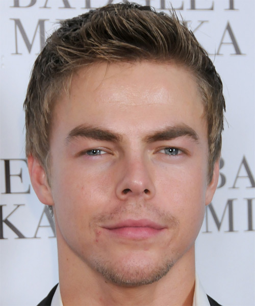 Derek Hough Short Straight Hairstyle - Dark Blonde (Ash)
