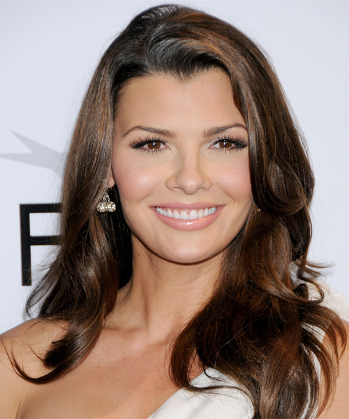 Ali Landry Long Wavy Hairstyle - Medium Brunette (Mocha)