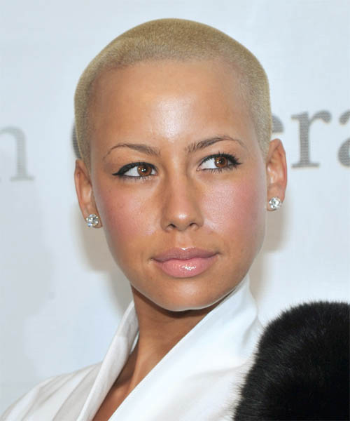 Amber Rose Short Straight Hairstyle