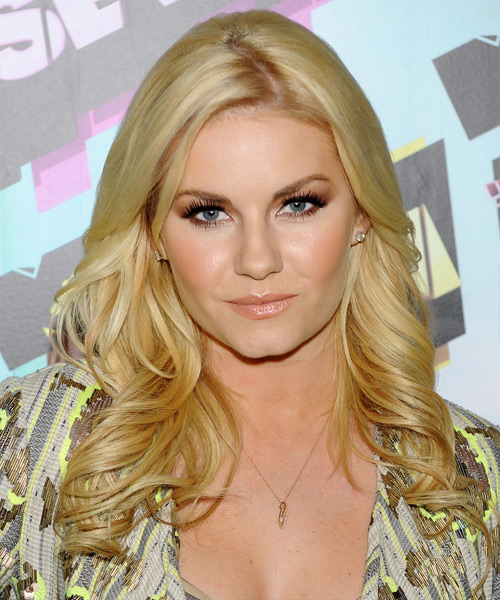 Elisha Cuthbert Long Wavy Hairstyle - Light Blonde (Honey)
