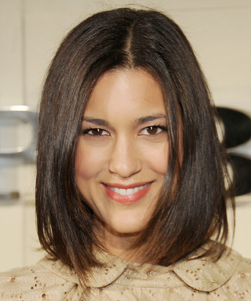 Julia Jones Medium Straight Hairstyle - Medium Brunette (Chestnut)