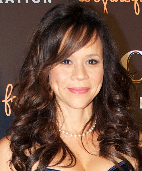 Rosie Perez Long Wavy Hairstyle - Dark Brunette