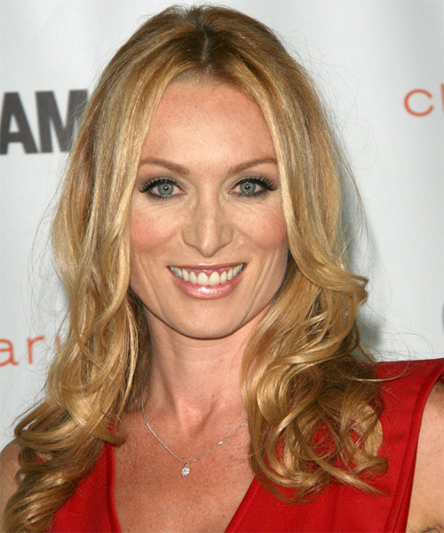 Victoria Smurfit Long Wavy Casual Hairstyle - Medium Blonde (Golden) Hair Color