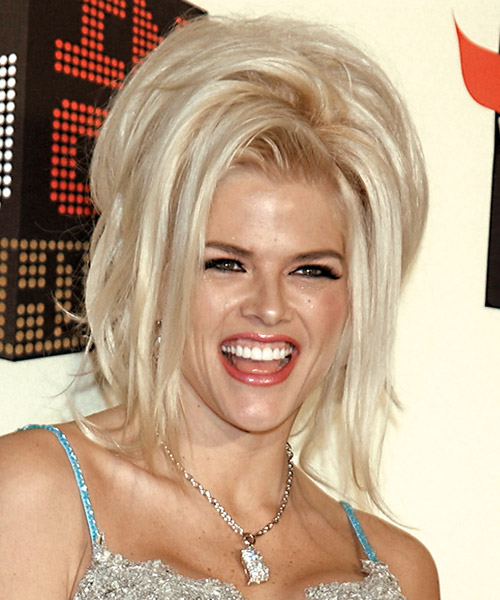 Anna Nicole Smith Alternative Straight Updo Hairstyle