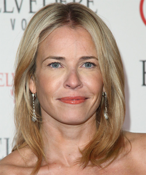 Chelsea Handler  Medium Straight Hairstyle - Dark Blonde