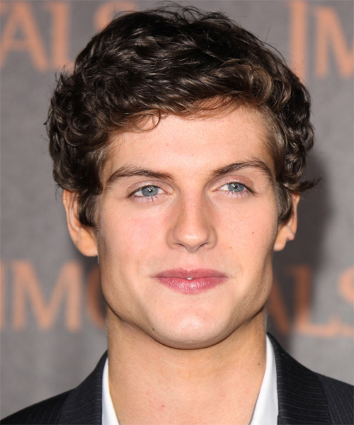 Daniel Sharman Short Wavy Hairstyle - Dark Brunette