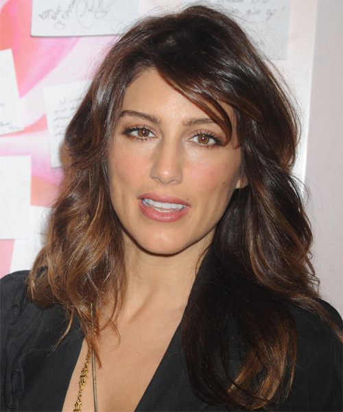 Jennifer Esposito Long Wavy Casual Hairstyle - Dark Brunette Hair Color