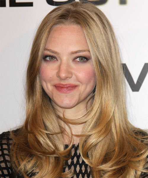 Amanda Seyfried Long Straight Hairstyle - Medium Blonde (Golden)