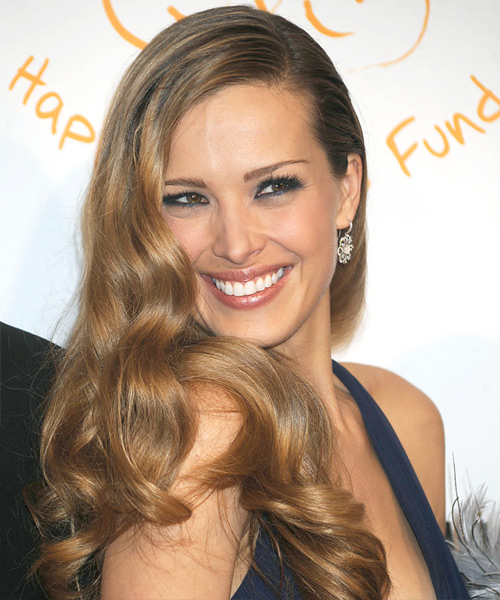 Petra Nemcova Long Wavy Formal Hairstyle - Dark Blonde Hair Color