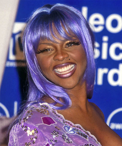 Lil Kim Long Straight Alternative Emo Hairstyle