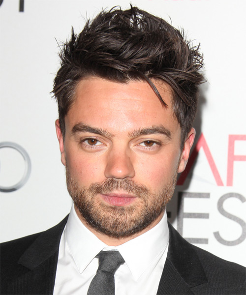 Dominic Cooper Short Straight Casual Hairstyle - Dark Brunette Hair Color