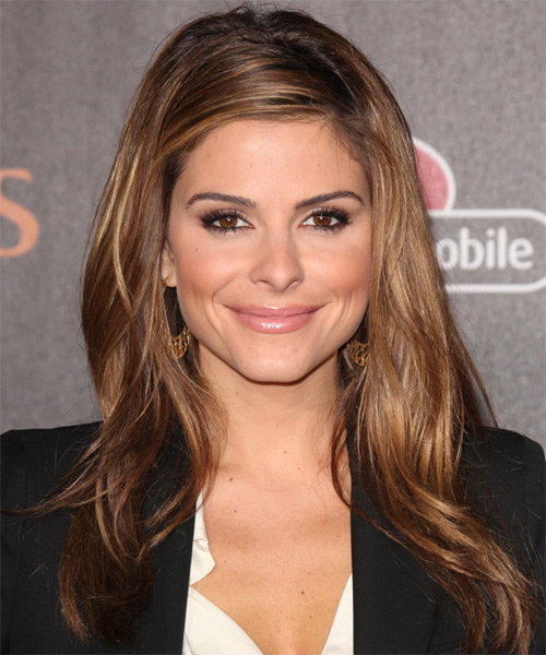 Maria Menounos Long Straight Casual Hairstyle - Light Brunette Hair Color