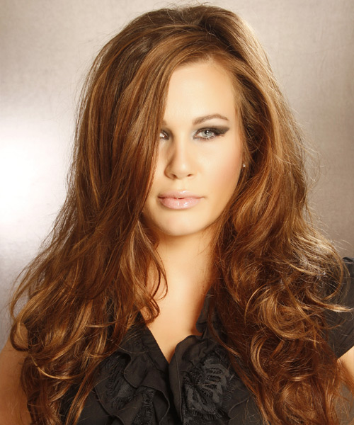 Long Wavy Formal Hairstyle - Light Brunette (Chestnut)