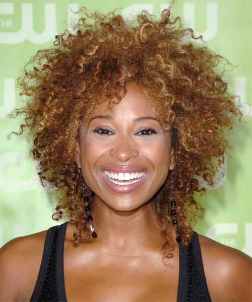 Tanika Ray Medium Curly Hairstyle