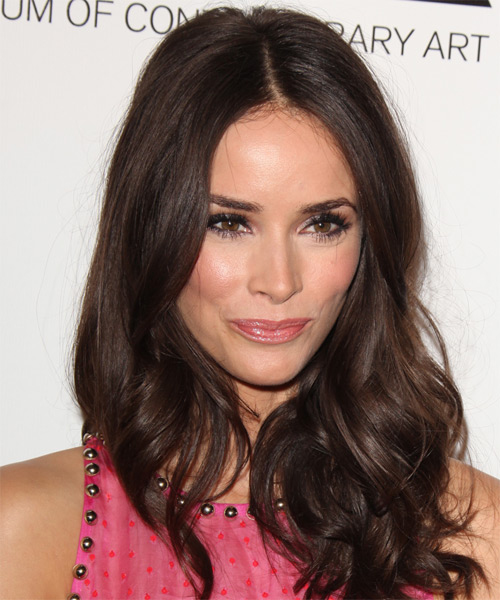 Abigail Spencer Long Wavy Hairstyle - Medium Brunette (Chocolate)