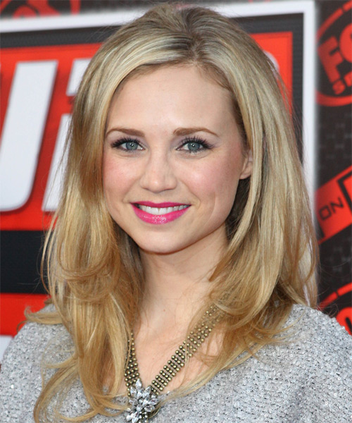 Fiona Gubelmann Long Straight Formal Hairstyle - Medium Blonde Hair Color