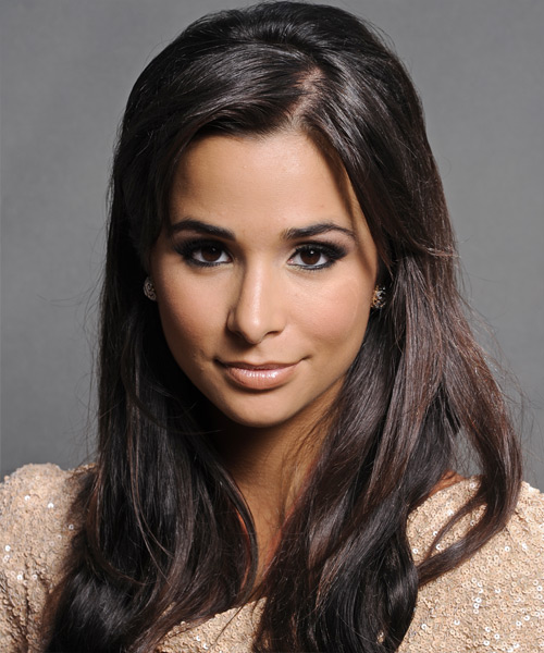 Josie Loren Long Straight Casual Hairstyle - Black Hair Color