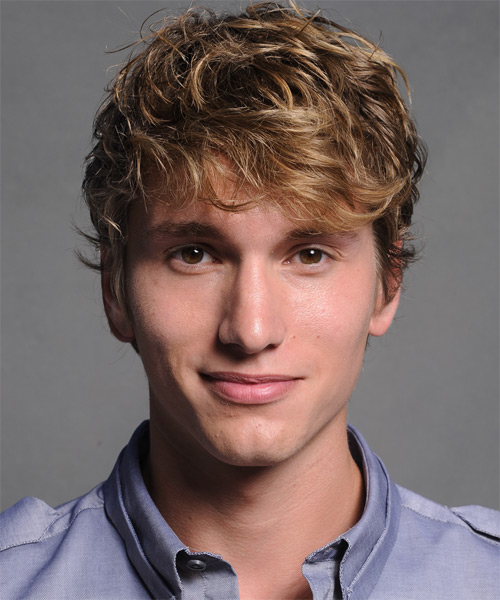 Benjamin Stone Short Wavy Casual Hairstyle - Dark Blonde Hair Color