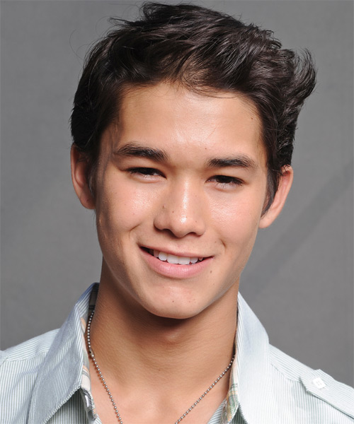 Boo Boo Stewart Short Straight Casual Hairstyle - Dark Brunette Hair Color