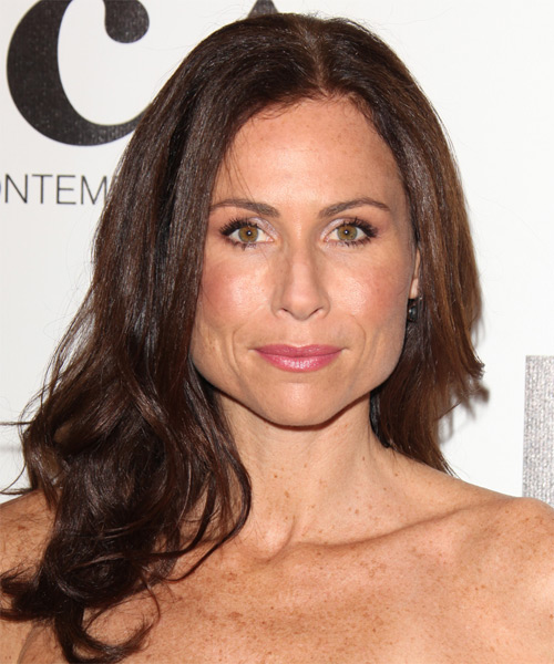 Minnie Driver Long Wavy Casual Hairstyle - Dark Brunette (Chocolate) Hair Color