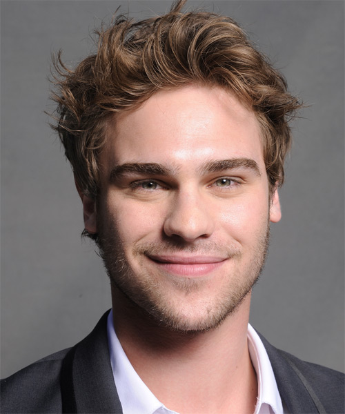 Grey Damon Short Straight Hairstyle - Light Brunette