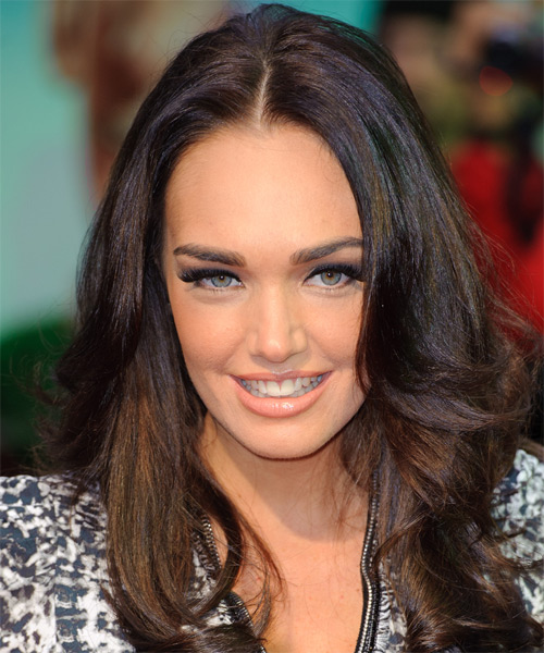 Tamara Ecclestone Long Straight Hairstyle - Dark Brunette