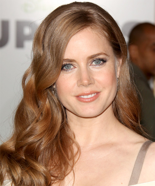 Amy Adams Long Wavy Formal Hairstyle - Medium Red (Strawberry) Hair Color