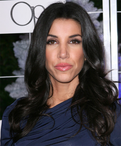 Adrianna Costa Long Wavy Hairstyle - Black