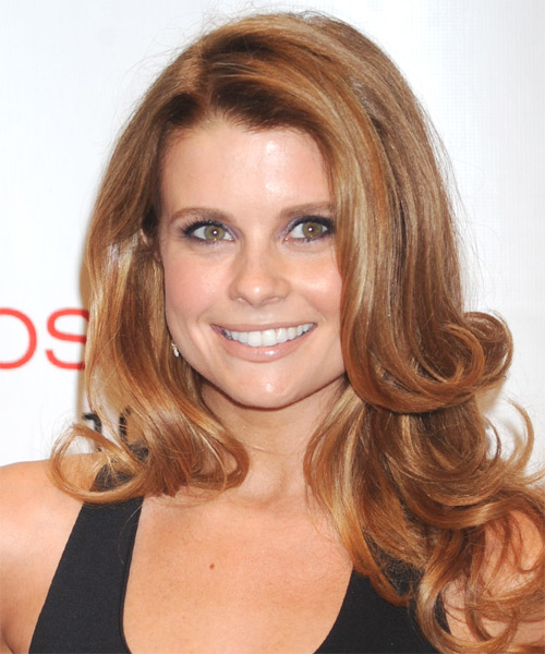 Joanna Garcia-Swisher  Long Wavy Formal Hairstyle - Medium Red (Copper) Hair Color