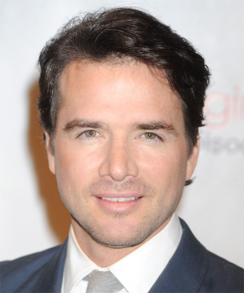 Matthew Settle Short Straight Hairstyle - Dark Brunette