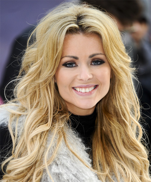 Nicola McLean Long Wavy Hairstyle - Medium Blonde (Golden)