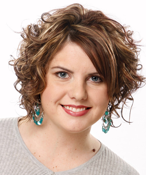 Medium length curly School hairstyle