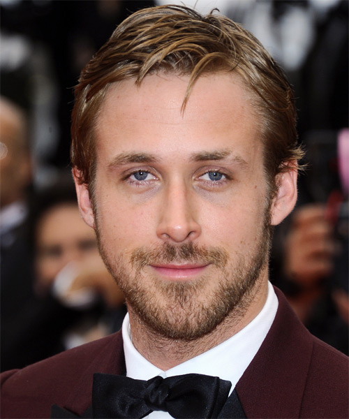 Ryan Gosling Short Straight Hairstyle - Dark Blonde