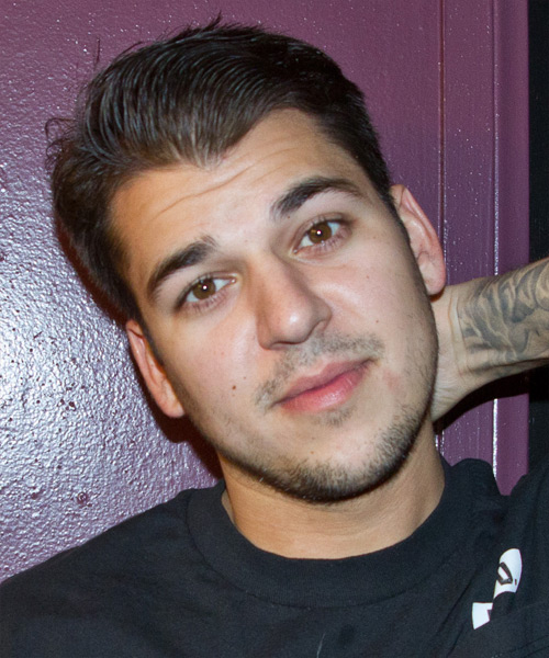 Robert Kardashian Jr Short Straight Hairstyle - Dark Brunette