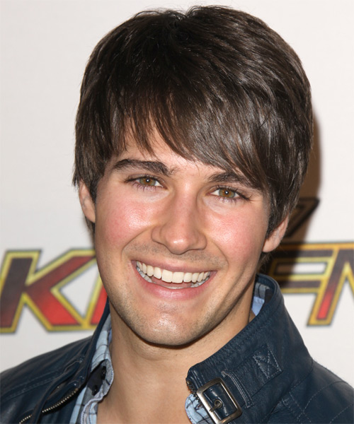 James Maslow  Short Straight Casual Hairstyle with Layered Bangs - Medium Brunette (Chocolate) Hair Color