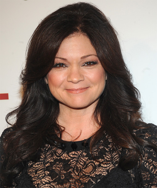 Valerie Bertinelli Long Wavy Formal  - Dark Brunette (Mocha)