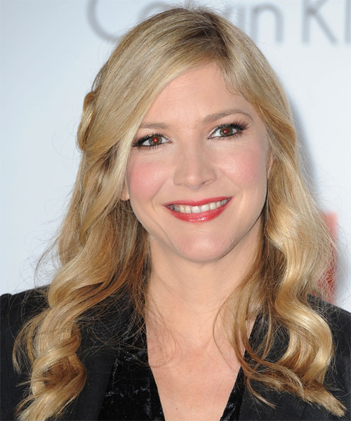 Lisa Faulkner  Long Wavy Hairstyle - Medium Blonde (Champagne)