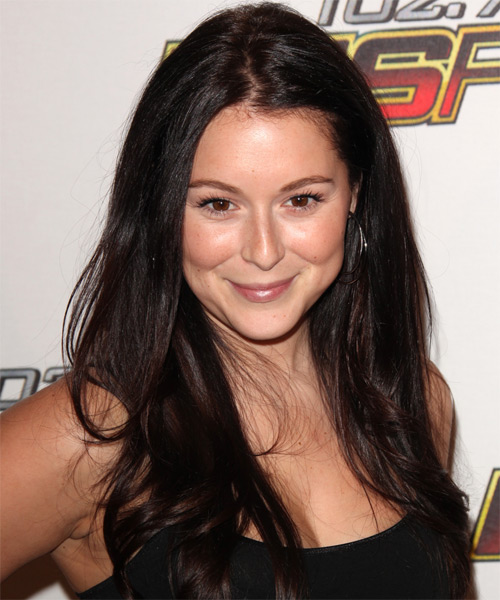 Alexa Vega Long Straight Hairstyle - Dark Brunette (Mocha)