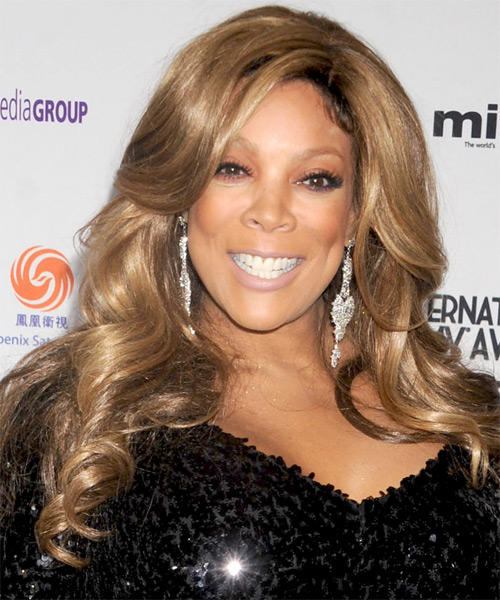 Wendy Williams Long Wavy Hairstyle - Light Brunette (Caramel)