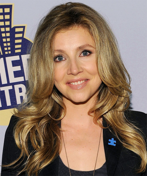 Sarah Chalke Long Straight Casual Hairstyle - Dark Blonde (Ash) Hair Color