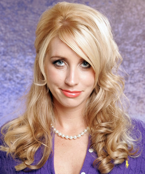 Half Up Long Curly Formal Hairstyle - Light Blonde