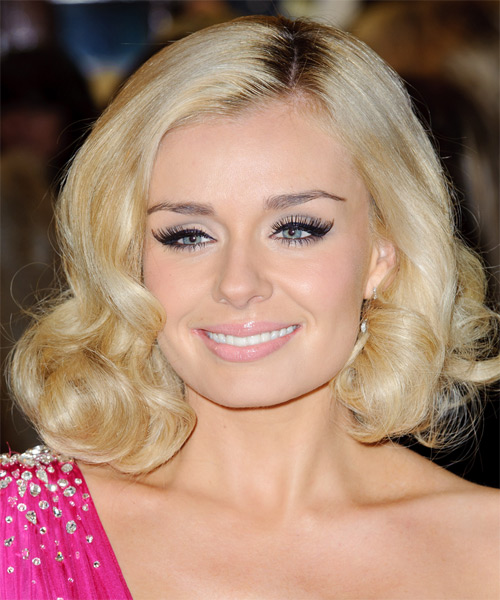 Katherine Jenkins - Formal Medium Wavy Hairstyle