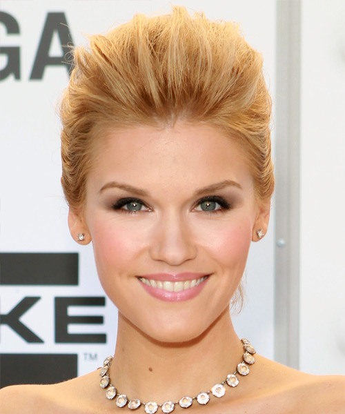 Emily Rose Straight Formal Updo Hairstyle - Medium Blonde (Golden) Hair Color