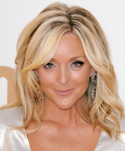Jane Krakowski Medium Straight Casual Hairstyle - Medium Blonde (Honey) Hair Color