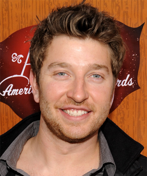 Brett Eldredge Short Straight Hairstyle - Dark Brunette