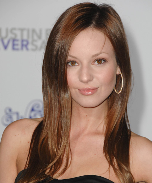 Samantha Droke Long Straight Hairstyle - Medium Brunette (Auburn)