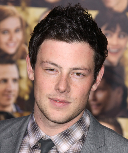 Corey Monteith Short Straight Hairstyle - Dark Brunette (Mocha)