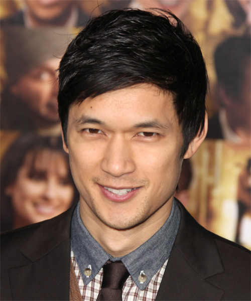 Harry Shum Jr Short Straight Hairstyle - Black